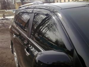 Nissan Qashqai 2008-2015 - Дефлекторы окон (ветровики), к-т 4 шт, темные. SIM фото, цена