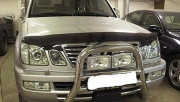 Lexus LX 1998-2007 - Дефлектор капота (мухобойка), темный. (SIM) фото, цена