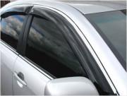 Toyota Camry 2006-2011 - Дефлекторы окон (ветровики), к-т 4 шт, темные c хромированным молдингом. (SIM) фото, цена
