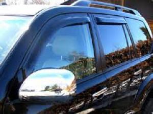 Toyota Land Cruiser Prado 2003-2008 - Дефлекторы окон (ветровики), к-т 4 шт, темные. (SIM) фото, цена