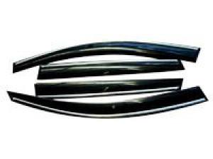 Volkswagen Touareg 2011-2017 - Дефлекторы окон (ветровики), к-т 4 шт, темные с хромированным молдингом. SIM фото, цена
