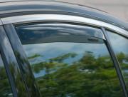 Infiniti G37 Sedan 2008-2013 - Дефлекторы окон (ветровики), задние, темные. (WeatherTech) фото, цена