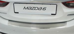 Mazda 3 2013-2015 - Накладка на задний бампер с загибом.  фото, цена
