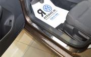 Alfa Romeo 147 2000-2015 - Накладки на внутренние порожки, к-т 2 шт. (НатаНико) фото, цена