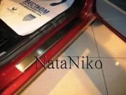 Dacia Logan 2005-2015 - Порожки внутренние к-т 4 шт. (НатаНико) фото, цена