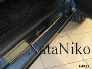 Fiat Grande Punto 2006-2015 - Порожки внутренние к-т 4 шт. (НатаНико) фото, цена