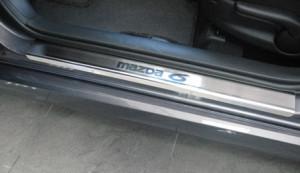 Mazda 6 2010-2012 - Порожки внутренние к-т 4 шт. (НатаНико) фото, цена