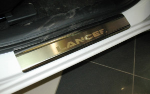 Mitsubishi Lancer 2007-2015 - Порожки внутренние к-т 4 шт. (НатаНико) фото, цена