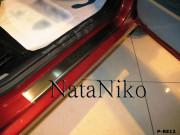 Renault Logan 2009-2011 - Порожки внутренние к-т 4 шт. (НатаНико) фото, цена