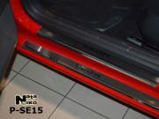 Seat Leon 2012-2015 - Порожки внутренние к-т 8 шт. (НатаНико) фото, цена