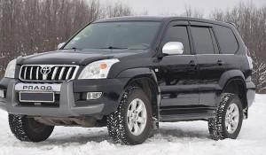 Toyota Land Cruiser Prado 2003-2008 - Дефлекторы окон (ветровики), комлект. (Cobra Tuning) фото, цена