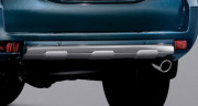 Toyota Land Cruiser Prado 2009-2015 - Накладка заднего бампера (пластик). (NIken) фото, цена