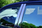 Toyota Land Cruiser Prado 2003-2008 - Молдинг дверных стоек, к-т 8 шт, нержавейка. (Omsa) фото, цена