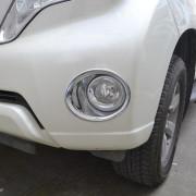 Toyota Land Cruiser Prado 2013-2016 - Хромированные накладки на противотуманки, пластик,  к-т 2 шт. (Niken) фото, цена