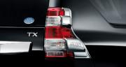Toyota Land Cruiser Prado 2013-2016 - Хромированные накладки на задние фонари, пластик, к-т 2 шт. (Niken) фото, цена