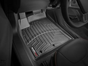 Tesla Model S 2012-2015 - Коврики резиновые с бортиком, передние, черные. (WeatherTech) фото, цена