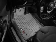 MINI Cooper 2007-2013 - Коврики резиновые с бортиком, передние, серые. (WeatherTech) фото, цена