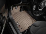 MINI Cooper 2007-2013 - Коврики резиновые с бортиком, передние, бежевые. (WeatherTech) фото, цена