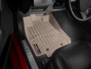 Jaguar XF 2008-2019 - Коврики резиновые с бортиком, передние, бежевые. (WeatherTech) фото, цена