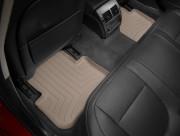 Jaguar XF 2008-2016 - Коврики резиновые с бортиком, задние, бежевые. (WeatherTech) фото, цена