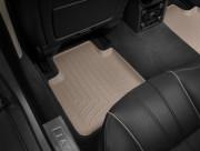 Jaguar XJ 2009-2016 - Коврики резиновые с бортиком, задние, бежевые. (WeatherTech) фото, цена