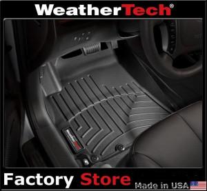 Hyundai Santa Fe 2010-2012 - Коврики резиновые с бортиком, передние, черные (WeatherTech) USA фото, цена