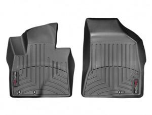 Hyundai Santa Fe 2010-2012 - Коврики резиновые с бортиком, передние, черные (WeatherTech) фото, цена