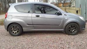 Chevrolet Aveo 2008-2012 - (3 дверн.) - Дефлекторы окон (ветровики), комлект. (Cobra Tuning) фото, цена