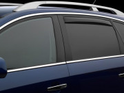 Land Rover Range Rover Sport 2013-2016 - Дефлекторы окон (ветровики) вставные, задние, темные. (WeatherTech) фото, цена