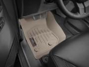 Jeep Wrangler 2014-2019 - Коврики резиновые с бортиком, передние, бежевые. (WeatherTech) фото, цена