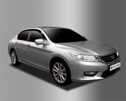 Honda Accord 2012-2016 - Дефлекторы окон (ветровики), темные, комплект 4 шт. (Clover) фото, цена