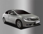 Honda Civic 2012-2016 - Дефлекторы окон (ветровики), темные, комплект 4 шт. (Clover) фото, цена