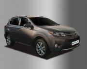 Toyota Rav 4 2013-2016 - Дефлекторы окон (ветровики), темные, комплект 6 шт. (Clover) фото, цена