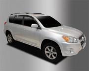 Toyota Rav 4 2006-2012 - Дефлекторы окон (ветровики), темные, комплект 4 шт. (Clover) фото, цена