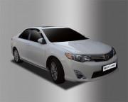 Toyota Camry 2012-2016 - Дефлекторы окон (ветровики), темные, комплект 4 шт. (Clover) фото, цена