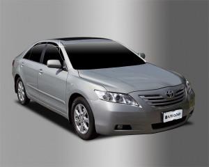 Toyota Camry 2006-2011 - Дефлекторы окон (ветровики), темные, комплект 4 шт. (Clover) фото, цена