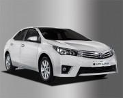 Toyota Corolla 2013-2016 - Дефлекторы окон (ветровики), темные, комплект 4 шт. (Clover) фото, цена