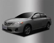 Toyota Corolla 2006-2012 - Дефлекторы окон (ветровики), темные, комплект 4 шт. (Clover) фото, цена