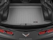 Chevrolet Corvette 2014-2016 - Коврик резиновый в багажник, серый. (WeatherTech) фото, цена