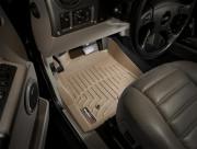 Hummer H2 2002-2009 - Коврики резиновые с бортиком, передние, бежевые. (WeatherTech) фото, цена