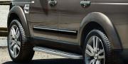 Land Rover Discovery 2005-2016 - Молдинги дверей черные с хром вставкой (LR) фото, цена
