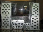 Infiniti G35 Sedan 2007-2010 - Накладки на педали, алюминий, резина  фото, цена