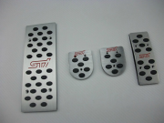 Subaru Impreza 2008-2012 - Накладки на педали, алюминий, резина  фото, цена