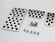Toyota Land Cruiser Prado 2009-2013 - Накладки на педали, алюминий, резина  фото, цена
