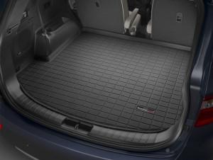 Hyundai Santa Fe 2012-2016 - Коврик резиновый в багажник, черный. (WeatherTech) фото, цена