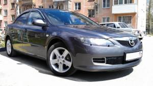 Mazda 6 2002-2007 - Дефлекторы окон (ветровики), темные, с хром молдингом, комплект 4 шт. (China) фото, цена