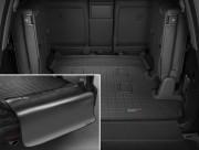 Toyota Land Cruiser 2008-2019 - Коврик резиновый в багажник, черный, с накидкой. (WeatherTech) 7 мест фото, цена