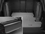 Toyota Land Cruiser 2008-2019 - Коврик резиновый в багажник, серый, с накидкой. (WeatherTech) 7 мест фото, цена