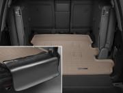 Toyota Land Cruiser 2008-2019 - Коврик резиновый в багажник, бежевый, с накидкой. (WeatherTech) 7 мест фото, цена