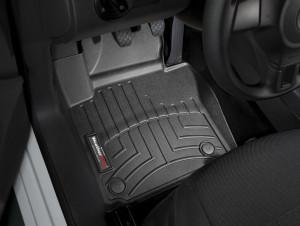 Volkswagen Caddy 2011-2019 - Коврики резиновые с бортиком, передние, черные. (WeatherTech) фото, цена